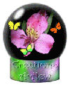 Flower and Butterfly Globe